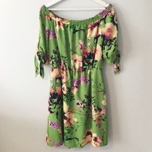 NWT New York & Company Floral Off Shoulder Dress